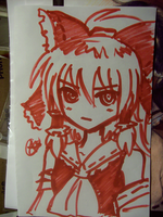 The Red and White (Sharpie) by xKaishaku
