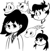 Black and white doodles by SuzyQ2pie
