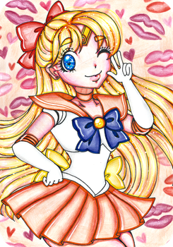 Sailor Venus by sekaiichihappy