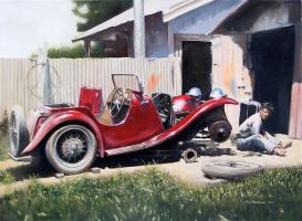 MG P-type - Oil Painting by donpackwood