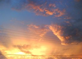 sky on fire by art-is-an-expression