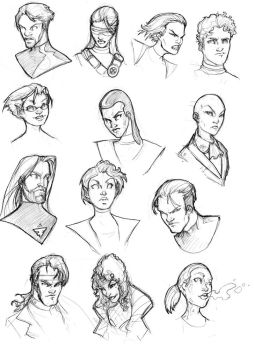 X-men Gender-Bender head shots by ComfortLove