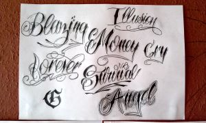 a few lettering by GeertY