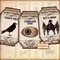 Halloween Spell Apothecary label party supplies by miabumbag