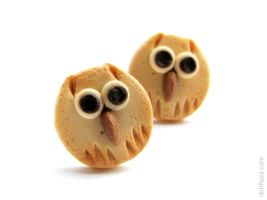 Owl Cookies Earrings Post by allim-lip