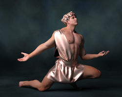 Figure in Copper Satin 1 by timberoo