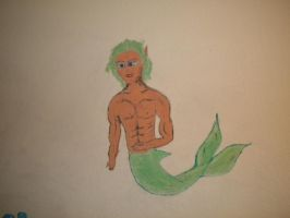 merman painted by RPfanatic