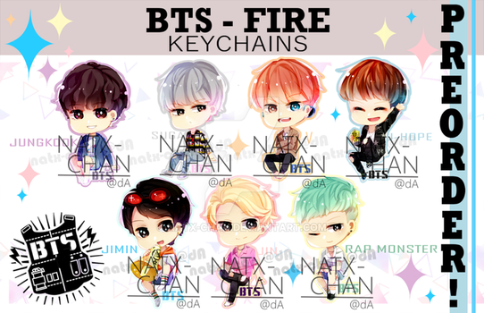 [KEYCHAINS] BTS - Fire by Natx-chan