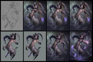 Centaur Warrior Stage 4 WIPs by mictones