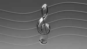 Treble Clef Elegant Lines Wallpaper by TheBigDaveC