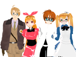 APH X CN - My Favourite Crossover Couples by Rosanaliese