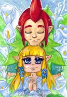 LoZ:SS - My Goddess by KeyshaKitty