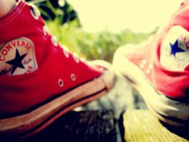 Converse on vacation II by PixieDrunk