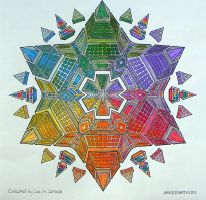 mixed media on Jim's Mandala by Lou-in-Canada