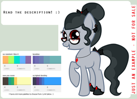 CLOSEDCLOSEDCLOSED Pony Palette Adoptables by sararini