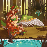 Dota 2 - Enchantress - Bath Time by mortinfamiART