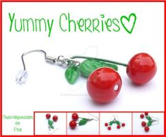 Yummy Cherries Earrings by The-Killer-Anna