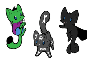 Scary Kitties by superstel