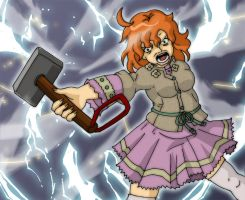Molly Weasley finds Thor's Hammer by Glee-chan