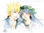 Commission - NaruHina by redsama