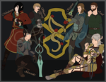 All main Characters of Eurythria (WIP) by MySweetRambo