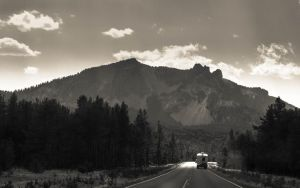 Paulina Peak and Camper by AFL
