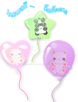 kawaii ballons by luzhikaru