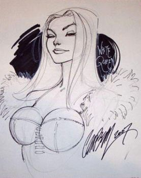 White Queen-Emma Frost bust by J-Scott-Campbell