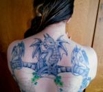 Dragon and grotesque tattoos - WIP Wings by rockgem
