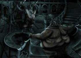 Barbarian VS Thousand Pounder by RaymondMinnaar