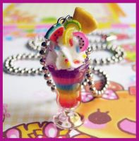 Rainbow Parfait Necklace 1 by cherryboop