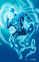 Blue Lantern Spiderman Fan Art by alxelder