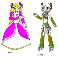 :CE: Claire And Nishi Alt. Outfits by SurgeCraft