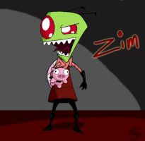 Zim and a Pig by boxergirl86