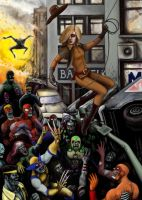 golge vs marvel zombies by buka-limon
