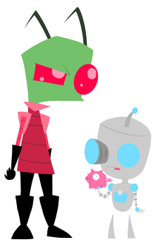 Zim and Gir by RemasterModule