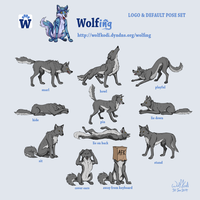 Wolfing - Logo and Default Pose Set by WolfKodi
