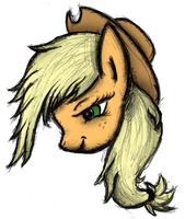 Applejack Detailed Freehand - Colored by AncientOwl