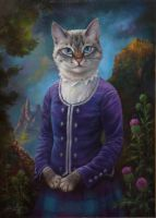 Lilou. Commission Oil painting by EldarZakirov