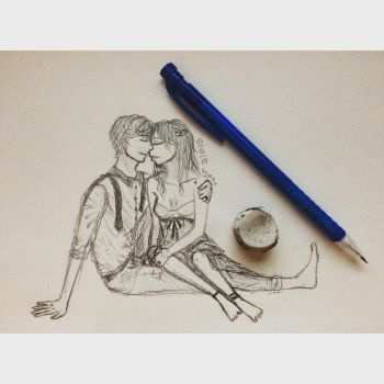 Intimate Couple Sketch by mch3ll3h3r3
