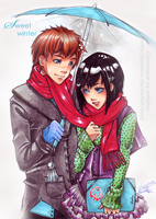 .Commission 08 - Sweet winter. by Amelion