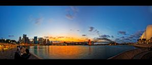 Sun Setting Over Sydney by WiDoWm4k3r