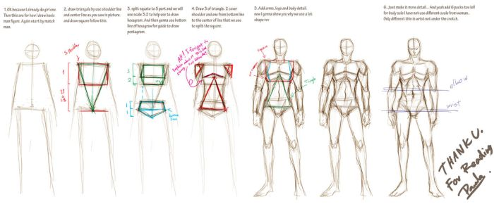 how I draw basic man figure by pandabaka