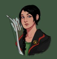 Katniss by wiccimm