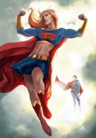Supergirl Always Flexing  by ellinsworth by cerebus873