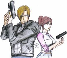 Leon and Claire  RE Degeneration by celsohenrique