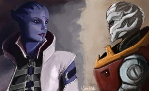 Aria T'Loak and Nyreen Kandros by uberchilli