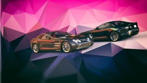 Mercedes SLR AMG Cremic Wallpaper by Binary-Map