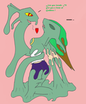 The love of rayquaza by SkyspearDraw