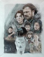 Game Of Thrones - House Stark by paint4me